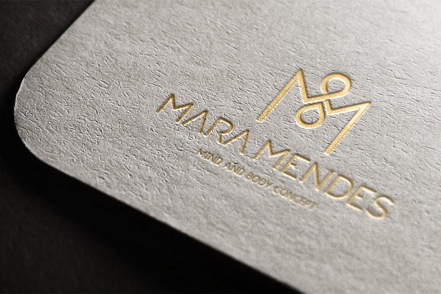 Aplicação logotipo Mara Mendes