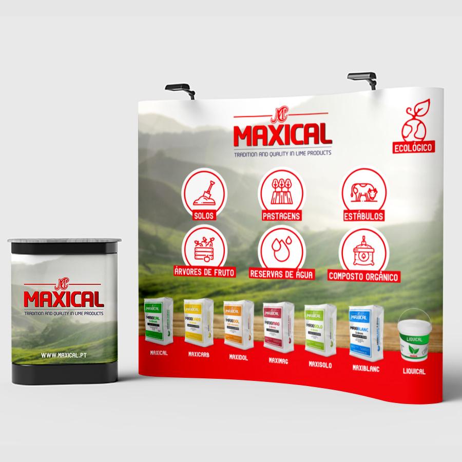Maxical - Stand, Catálogos e Embalagens